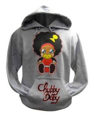 sweat à capuche chubby baby corps rouge
