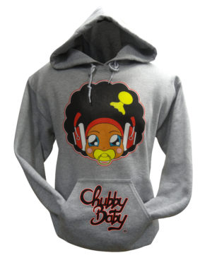 sweat à capuche chubby baby tete rouge