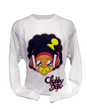 sweat blanc chubby baby tête rouge